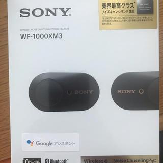 ソニー(SONY)の新品未開封 WF-1000XM3 SONY Bluetooth ブラック(ヘッドフォン/イヤフォン)