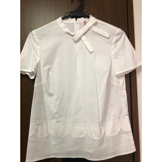 レッドヴァレンティノ(RED VALENTINO)のRED VALENTINO スカラップ リボン 半袖ブラウス(シャツ/ブラウス(半袖/袖なし))