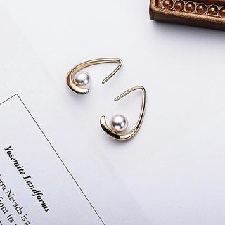 Plage - NEW♡drop on  pearl  pierce❤️silver925