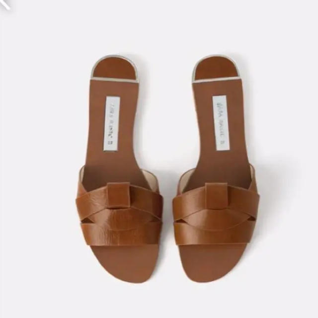 ZARA(ザラ)の美品☆ZARAクロスオーバーレザーサンダル レディースの靴/シューズ(サンダル)の商品写真