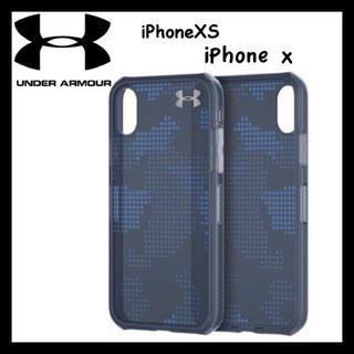 アンダーアーマー(UNDER ARMOUR)の箱破損 ★アンダーアーマー iPhoneX/XS ケース ブルー カモ(iPhoneケース)