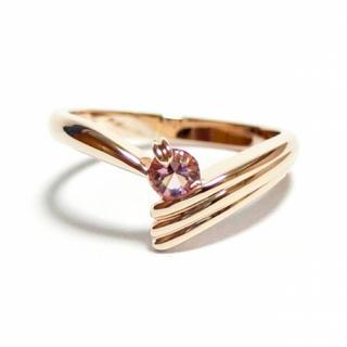 3号 スワロフスキー ピンキー ライトローズ ピンクゴールドリング(リング(指輪))