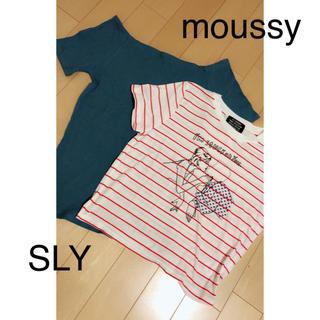 スライ(SLY)の moussy  SLY(Tシャツ(半袖/袖なし))