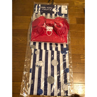 サンリオ(サンリオ)の浴衣  サンリオ  ハローキティ 帯付き  ラストセール!(浴衣帯)