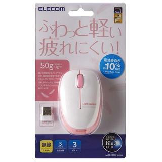 エレコム(ELECOM)の【新品・未使用】エレコム ワイヤレスBlueLEDマウス ピンク (PC周辺機器)