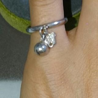 フランスアンティーク♪純銀のバタフライと鈴のピンキーリング(リング(指輪))