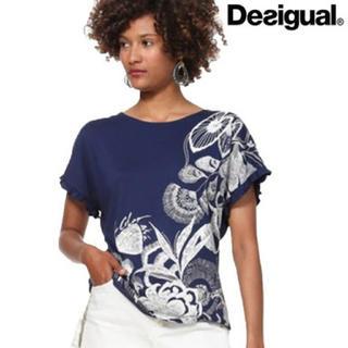 DESIGUAL - 新品♡定価7900円 デシグアル 半袖 刺繍が可愛いカットソー♡大特価‼️
