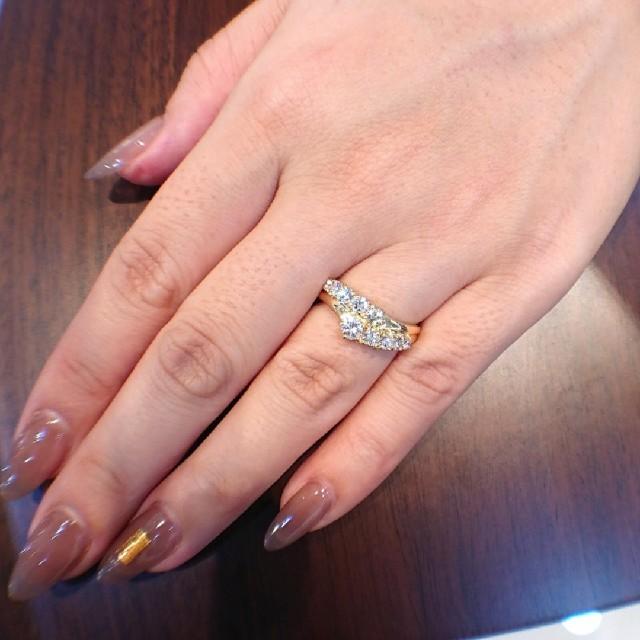 TASAKI(タサキ)の綺麗✨タサキ✨k18 ダイヤモンド リング 11号 TASAKI レディースのアクセサリー(リング(指輪))の商品写真