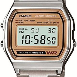 【在庫わずか】新品 CASIO 腕時計 ゴールド文字板 正規品(腕時計(デジタル))