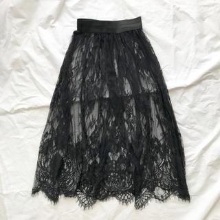 dholic - 【韓国購入ー新品未使用】レーススカート チュールスカート ロングスカート