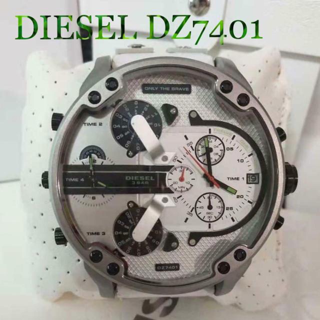 DIESEL - 限定値下げ!早い者勝ち!新品未使用 DIESEL DZ7401腕時計 白 クロノの通販 by ネコール@pjajq|ディーゼルならラクマ