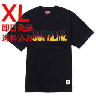 Supreme - XL supreme Flame S/S Top Tシャツ ブラック