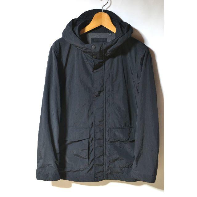 UNIQLO(ユニクロ)の新品 ユニクロ ウラジャージーフィールドパーカー ブラック M 今季 新作 メンズのジャケット/アウター(マウンテンパーカー)の商品写真