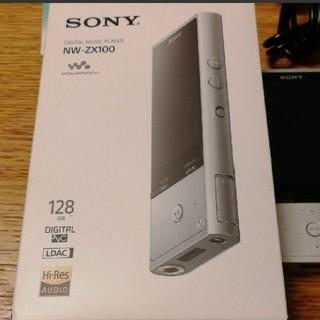 ソニー(SONY)のSONY NW-ZX100 walkman ハイレゾ音源対応 128GB(ポータブルプレーヤー)