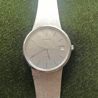 ロンジン(LONGINES)のロンジンホワイトゴールド腕時計メンズ(腕時計(デジタル))