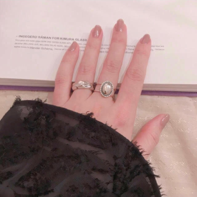 TODAYFUL(トゥデイフル)のシルバー925 カメオリング  silver925 リング レディースのアクセサリー(リング(指輪))の商品写真
