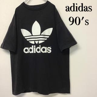 adidas - 美品 90's adidas ビッグトレフォイルTシャツ