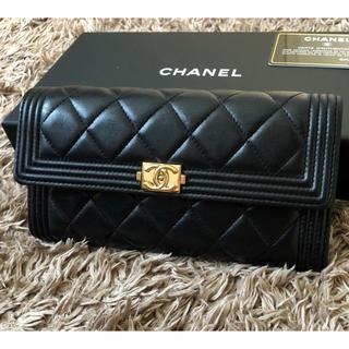 CHANEL - 正規 美品 CHANEL ボーイシャネル フラップウォレット 長財布