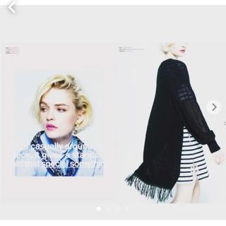 マメ(mame)のCINOH 裾フリンジ デザインニット(ニット/セーター)