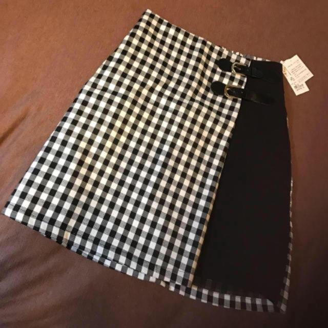 INGNI(イング)の♡INGNI完売品♡黒 ギンガムチェック ミニスカート♡ レディースのスカート(ミニスカート)の商品写真