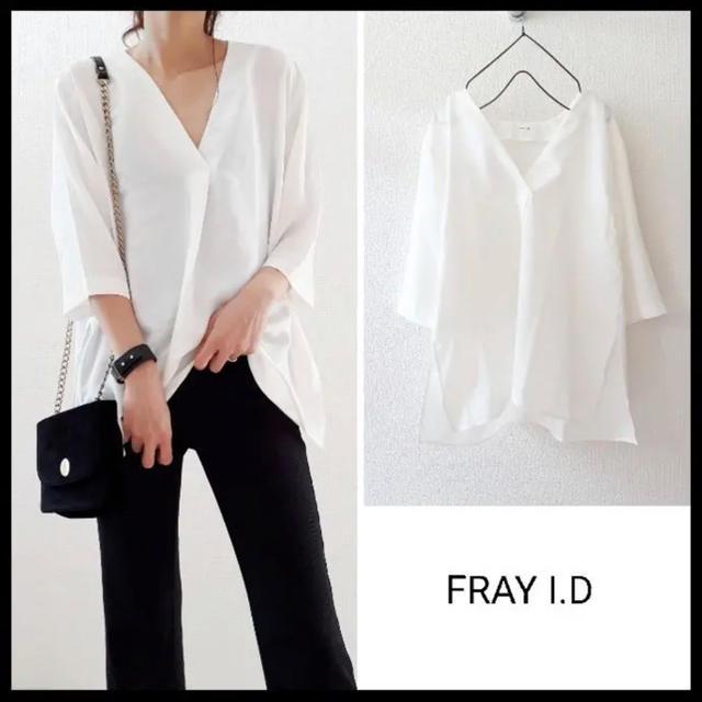 FRAY I.D(フレイアイディー)のフレイアイディー  Vネック シャツ ブラウス レディースのトップス(シャツ/ブラウス(長袖/七分))の商品写真