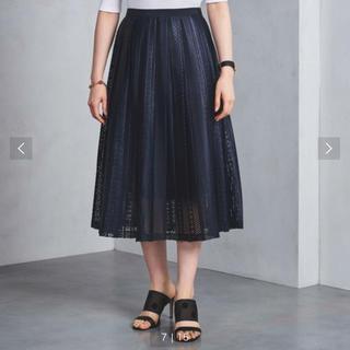 UNITED ARROWS - プリーツレース、スカート、美品