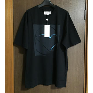 マルタンマルジェラ(Maison Martin Margiela)の黒44新品 マルジェラ オーバーサイズ ビッグシルエット Tシャツ(Tシャツ/カットソー(半袖/袖なし))