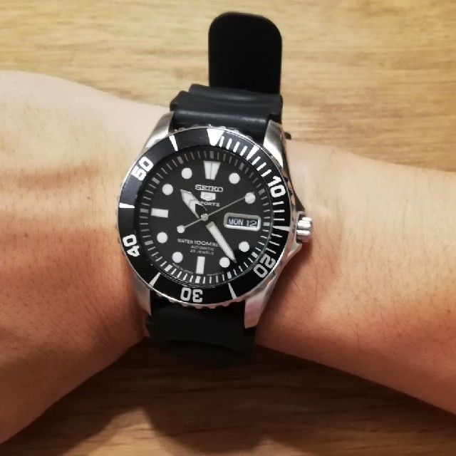 outlet store 9354f af815 SEIKO sports5 ROREX サブマリーナ似 snzf17 | フリマアプリ ラクマ
