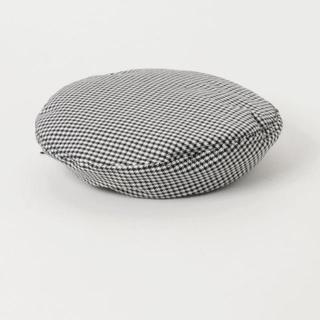ウィゴー(WEGO)のWEGO/ニットベレー帽 定価1,717円 ブラック グレー ベージュ(ハンチング/ベレー帽)