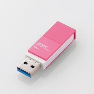 エレコム(ELECOM)の【新品・未使用】回転式USBメモリ(ピンク)32GB(PC周辺機器)