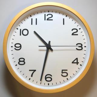 ムジルシリョウヒン(MUJI (無印良品))の無印良品 壁掛け時計 直径26.5cm(掛時計/柱時計)