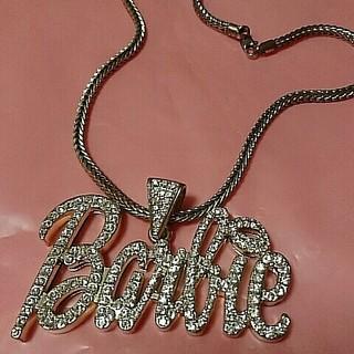 バービー(Barbie)のbarbieロゴネックレス♥ゴールド(ネックレス)