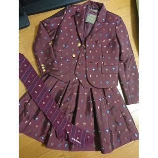 ジェーンマープル(JaneMarple)のJane Marple エンブレムジャガード セットアップ ジャケット スカート(テーラードジャケット)