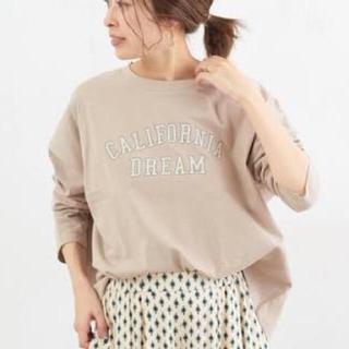 CIAOPANIC TYPY - « used » チャオパニックティピー カレッジロゴ ロングTシャツ ベージュ