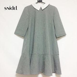 snidel - snidel(スナイデル) ワンピース サイズF レディース 黒×白 千鳥格子