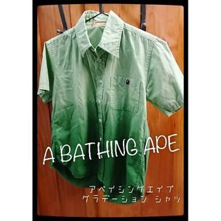 アベイシングエイプ(A BATHING APE)の美品 A BATHING APE XS 半袖シャツ アベイシングエイプ(Tシャツ(半袖/袖なし))