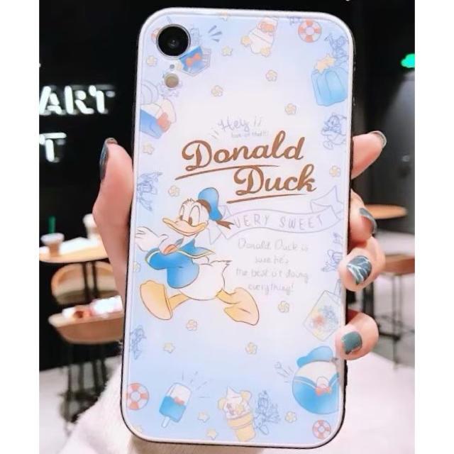 ディズニー パステル ドナルド iPhoneカバー スマホ/家電/カメラのスマホアクセサリー(iPhoneケース)の商品写真