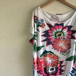 グレースコンチネンタル(GRACE CONTINENTAL)のINTRAMA お花柄 Tシャツ カットプルオーバー インポート(シャツ/ブラウス(半袖/袖なし))