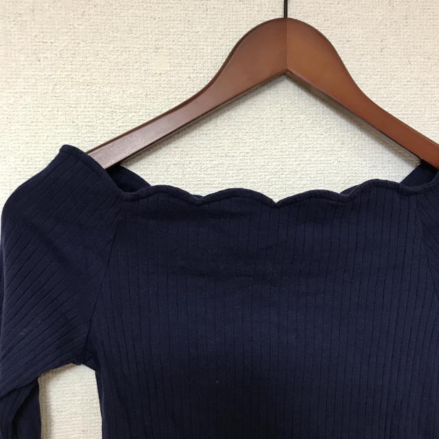GRL(グレイル)のグレイル GRL ネイビーのカットソー レディースのトップス(カットソー(長袖/七分))の商品写真