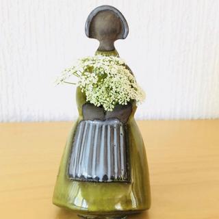 リサラーソン(Lisa Larson)の北欧ビンテージ花瓶 フラワーガール(花瓶)