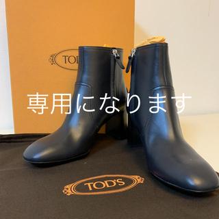 トッズ(TOD'S)のTOD'S レザー ショートブーツ 38(ブーツ)