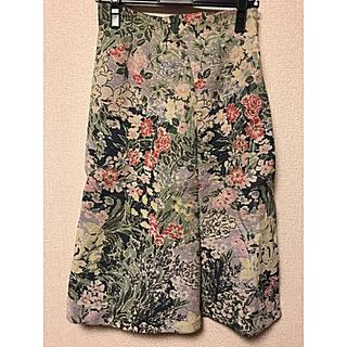 シビラ(Sybilla)のジャガードFlower スカート(ひざ丈スカート)
