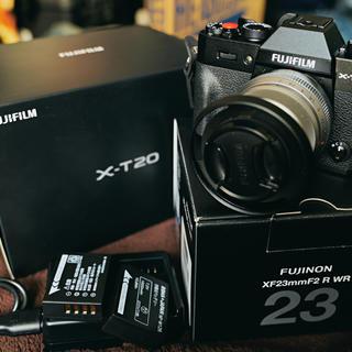 富士フイルム - FUJIFILM X-T20 XF23mmF2 R WR 美品セット+おまけ!