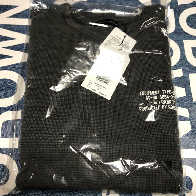 RODEO CROWNS WIDE BOWL(ロデオクラウンズワイドボウル)のピグメント ビッグ ワッフル Tシャツ BLK/F レディースのトップス(Tシャツ(半袖/袖なし))の商品写真