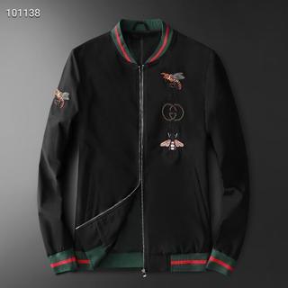 グッチ(Gucci)のGUCCI人気のプリントファッションメンズジャケットブラック/ホワイトXL(ブルゾン)