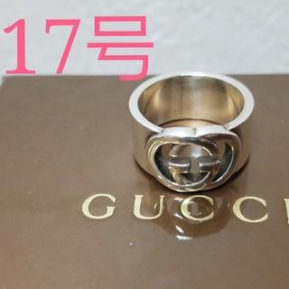 Gucci - [正規品] GUCCI ロゴ リング 17号 指輪 シルバー 鏡面研磨済
