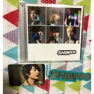 シャイニー(SHINee)のSHINee Fire ミノトレカ、ステッカー付き(K-POP/アジア)