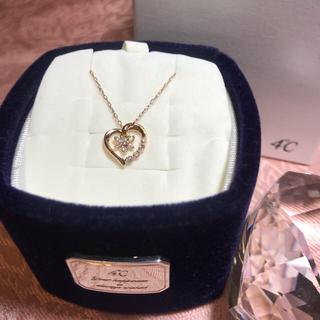 4℃ - 4℃ ★クリスマス限定商品★K10PG ダイヤモンド ハート ネックレス 箱付き