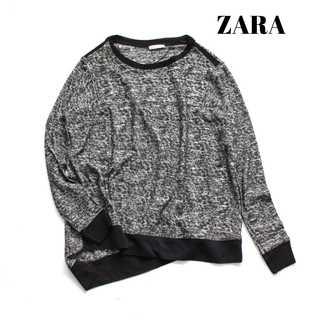 ザラ(ZARA)のザラ W&B★アシンメトリー 薄手ニットプルオーバー S 個性的 モード(ニット/セーター)