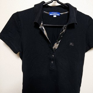 バーバリーブルーレーベル(BURBERRY BLUE LABEL)の【お買い得】BURBERRY バーバリー ノバチェック ホースロゴ(ポロシャツ)